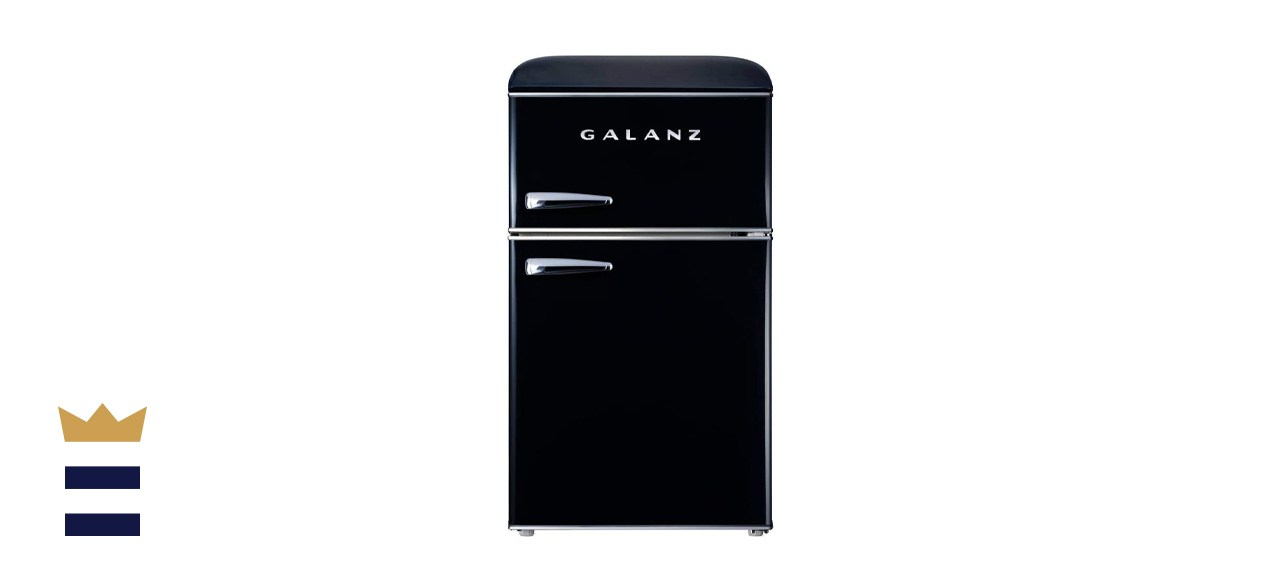Galanz 3.1 Cubic Foot Retro Compact Refrigerator with Dual Doors