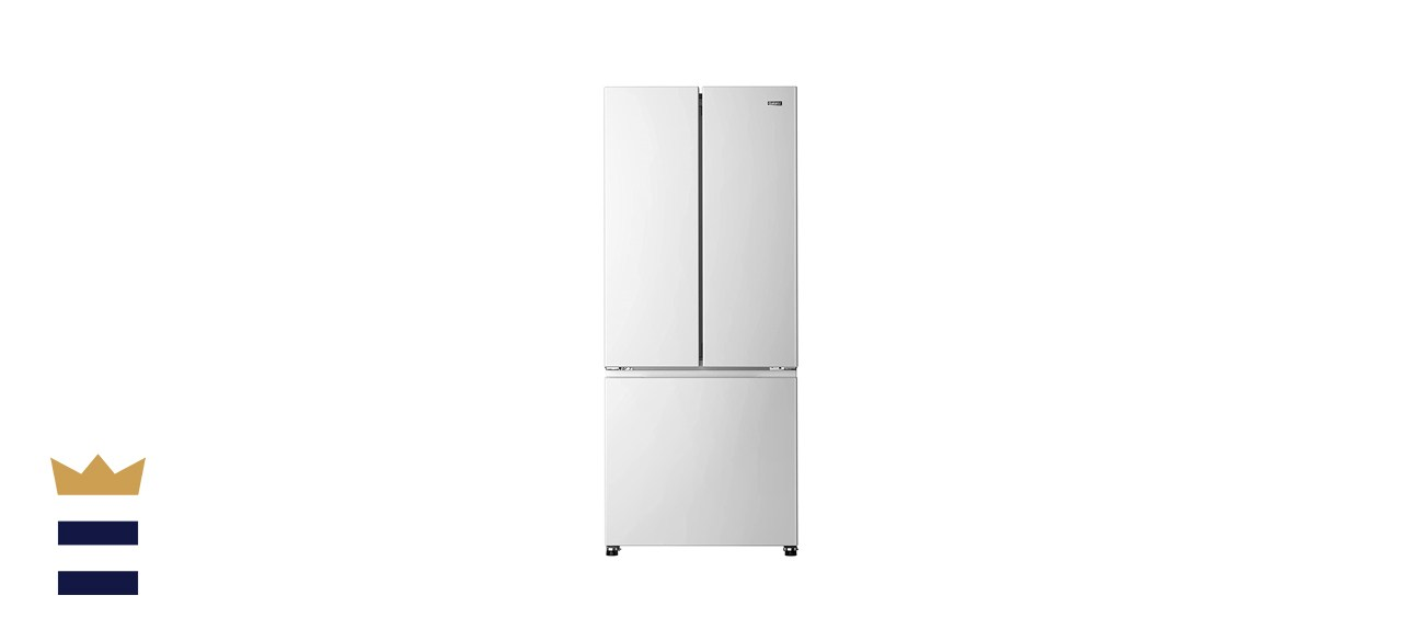 Galanz GLR16FWED08 3 French Door Refrigerator with Bottom Freezer & Adjustable Thermostat