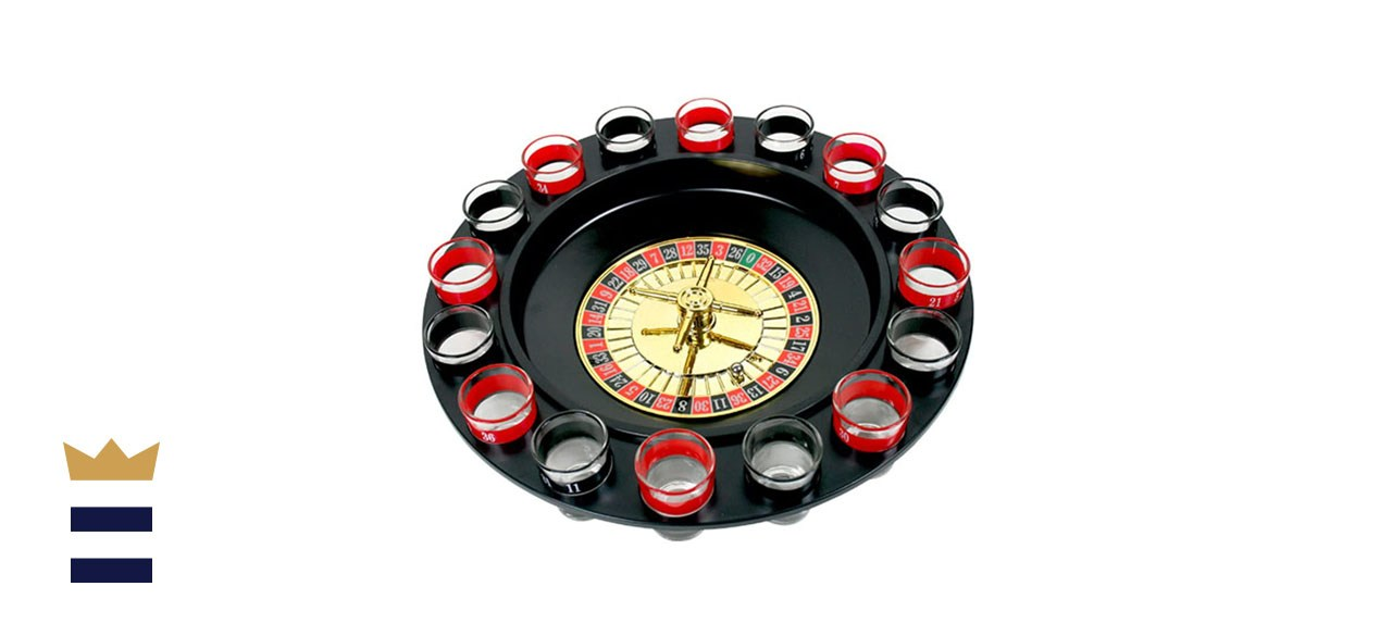 Game Night Shot Glass Roulette Drinking Game Set