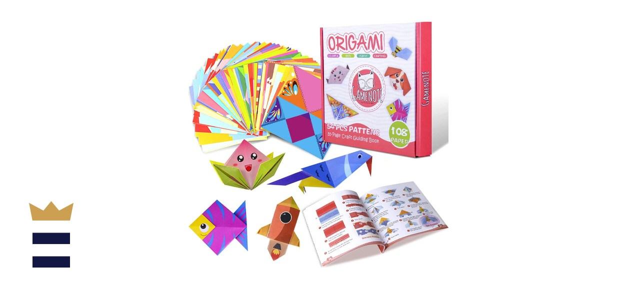 Gamenote Colorful Kids Origami Kit
