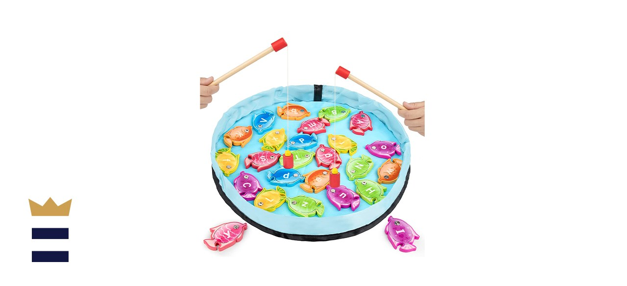 GAMENOTE Magnetic Alphabet Fishing Game