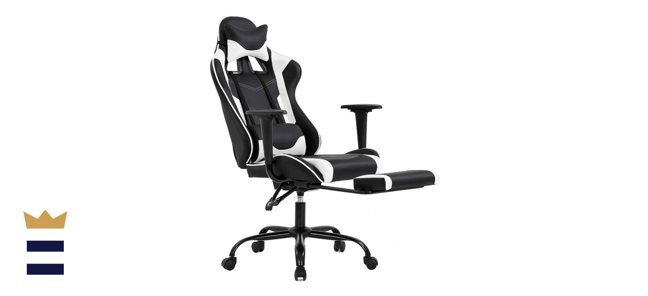 Gaming Chair with Footrest, Ergonomic Office Chair