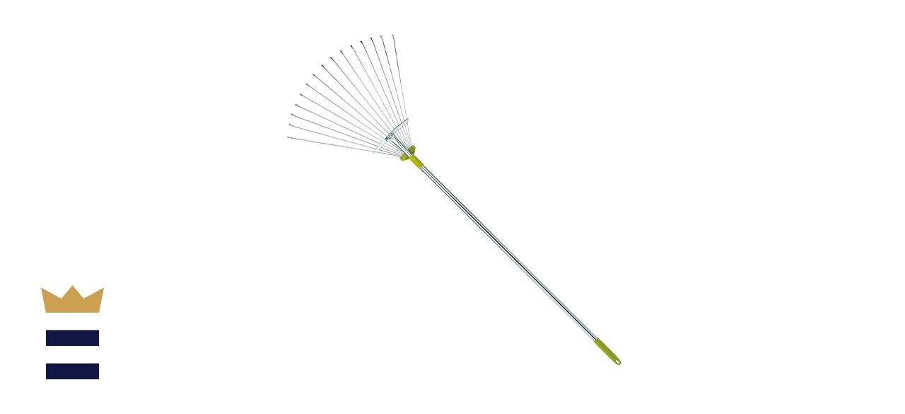 Gardenite 63-Inch Adjustable Garden Leaf Rake