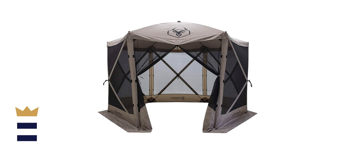 Gazelle 8-Person Camping and Outdoors Gazebo Day Tent with Mesh Windows