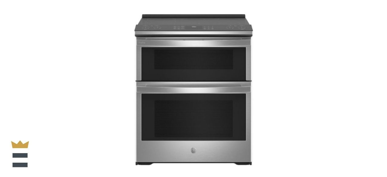GE Profile 6.6-Cubic Foot Slide-in Double Oven Electric Range
