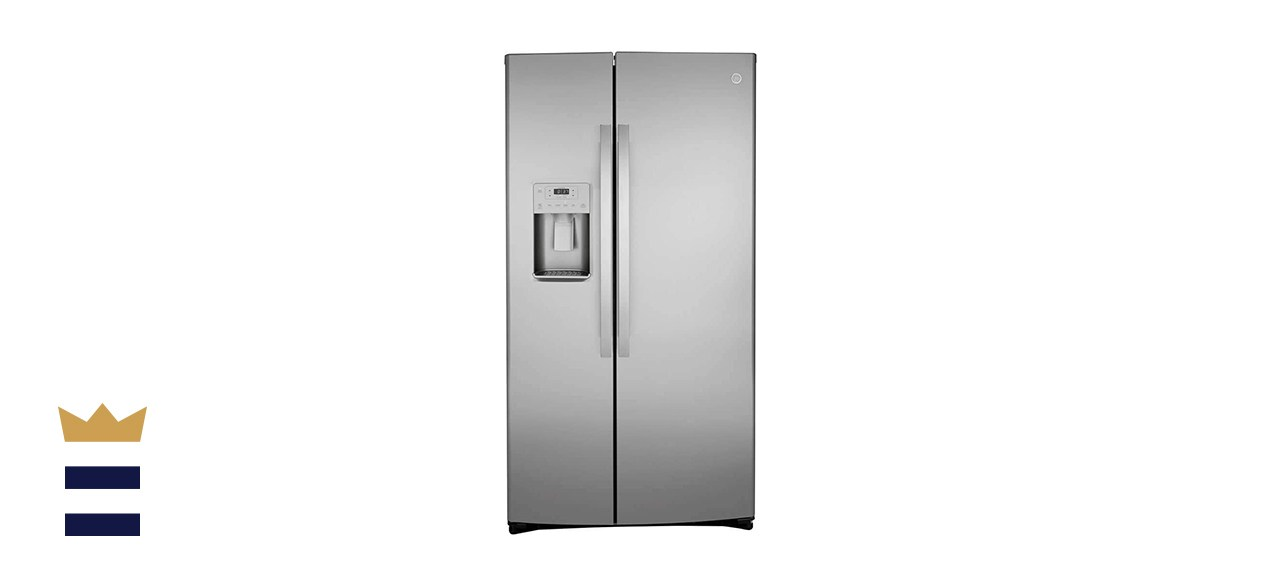 GE 21.8 Cubic Foot Stainless Counter Depth Side-by-Side Refrigerator
