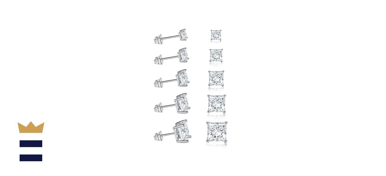 Gemsme 18K White Gold Stud Earrings