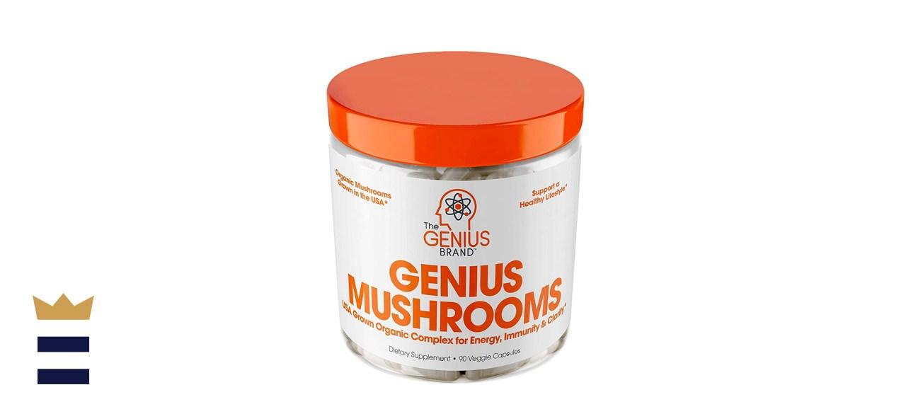Genius Brand Genius Mushroom Immune System Booster and Brain Supplement