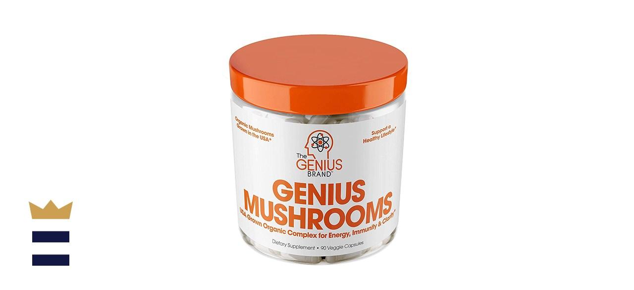 Genius Brand Mushrooms Immune System Booster and Nootropic Brain Supplement