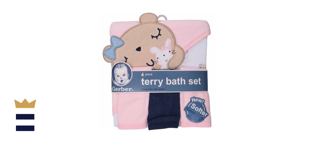 Gerber Newborn Towel and Washcloth Set