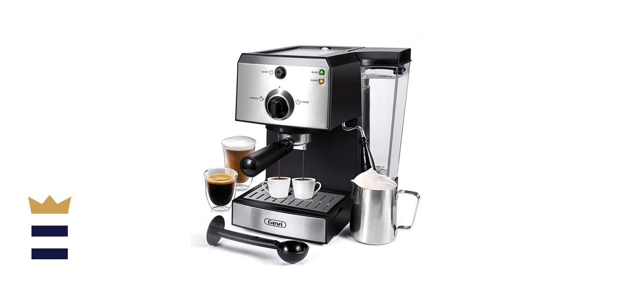 Gevi 15-Bar 2-in-1 Espresso and Cappuccino Machine