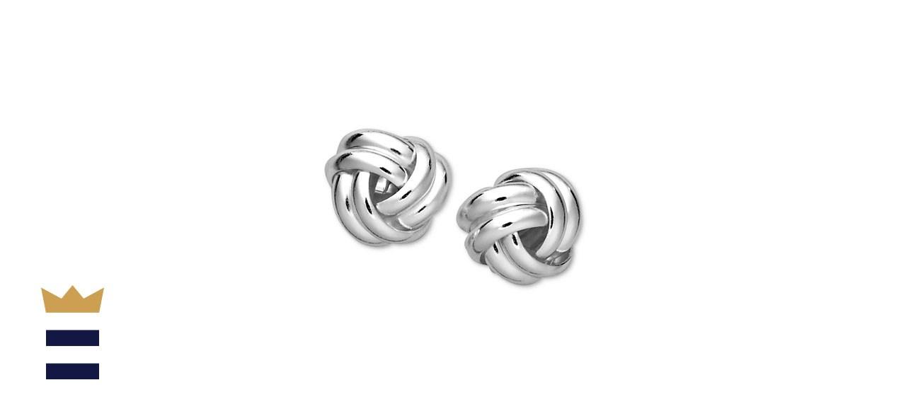 Giani Bernini Double-Knot Stud Earrings in Sterling Silver
