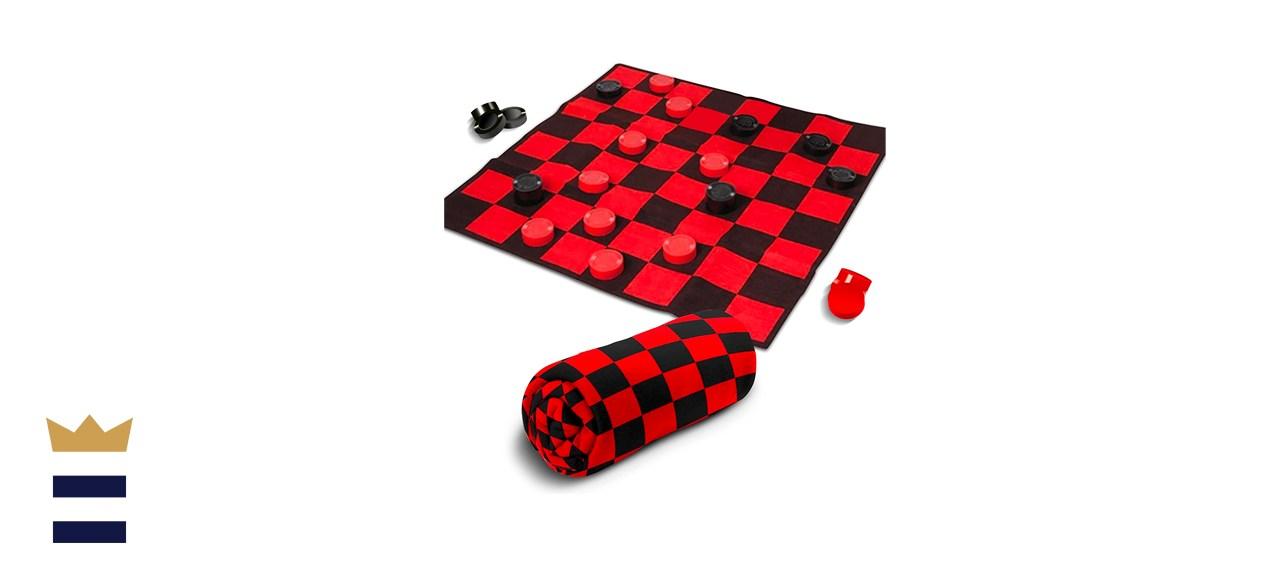 Giant Checkers Rug Set