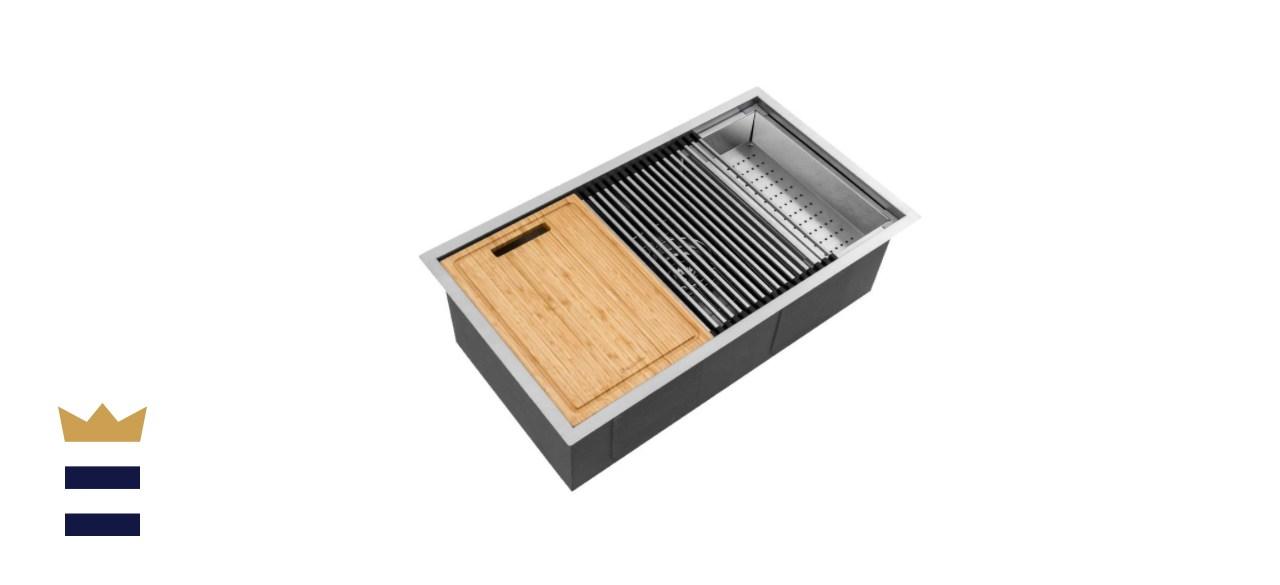 Glacier Bay All-in-One Stainless Steel Kitchen Sink Workstation