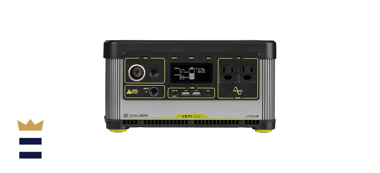 Goal Zero Yeti 500X Battery-Powered 505-watt Portable Generator