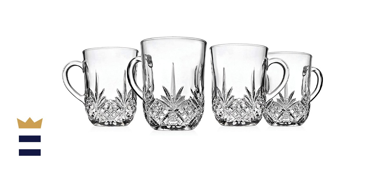 Godinger Glass Coffee Mug Set