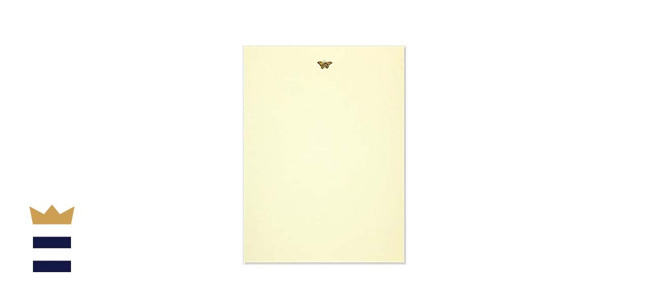 Gold Butterfly Stationery Set with Box