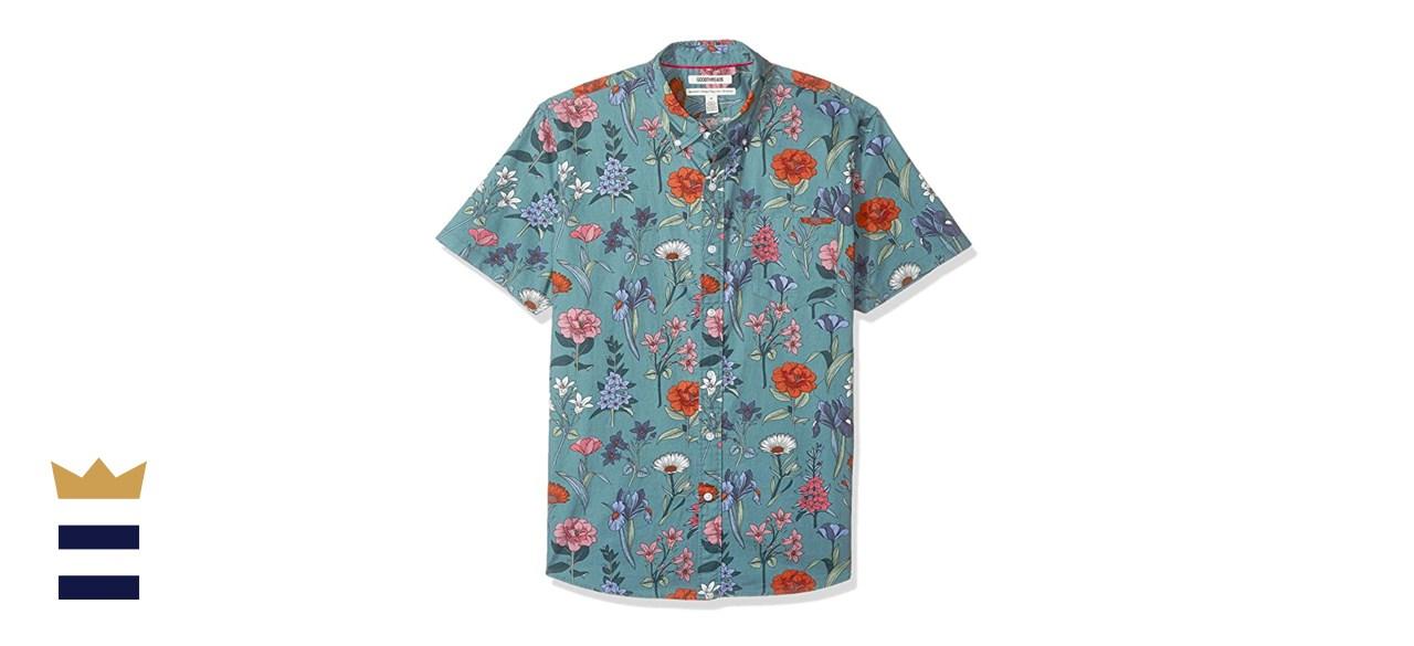 Goodthreads Short-Sleeve Printed Poplin Shirt