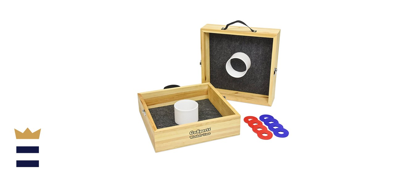 GoSports Premium Birch Wood Washer Toss Game