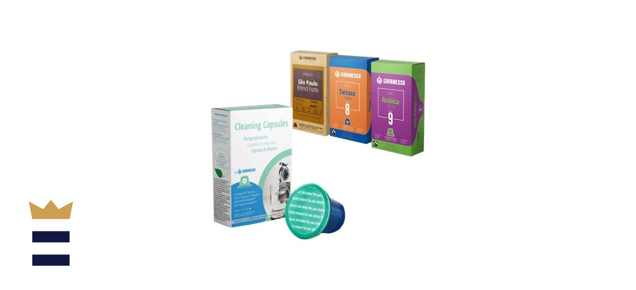 Gourmesso Cleaning Capsules for Nespresso Machines Cleaning Kit