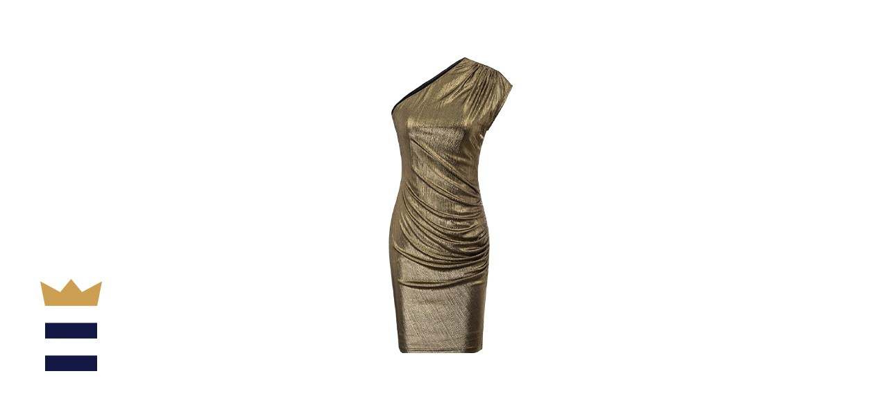 GRACE KARIN Womens Off Shoulder Ruched Bodycon Cocktail Dress