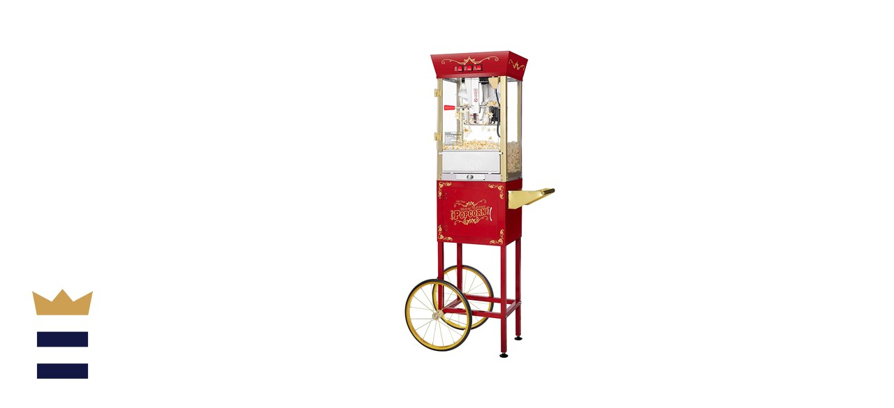 Great Northern Antique Red Popcorn Machine with Cart