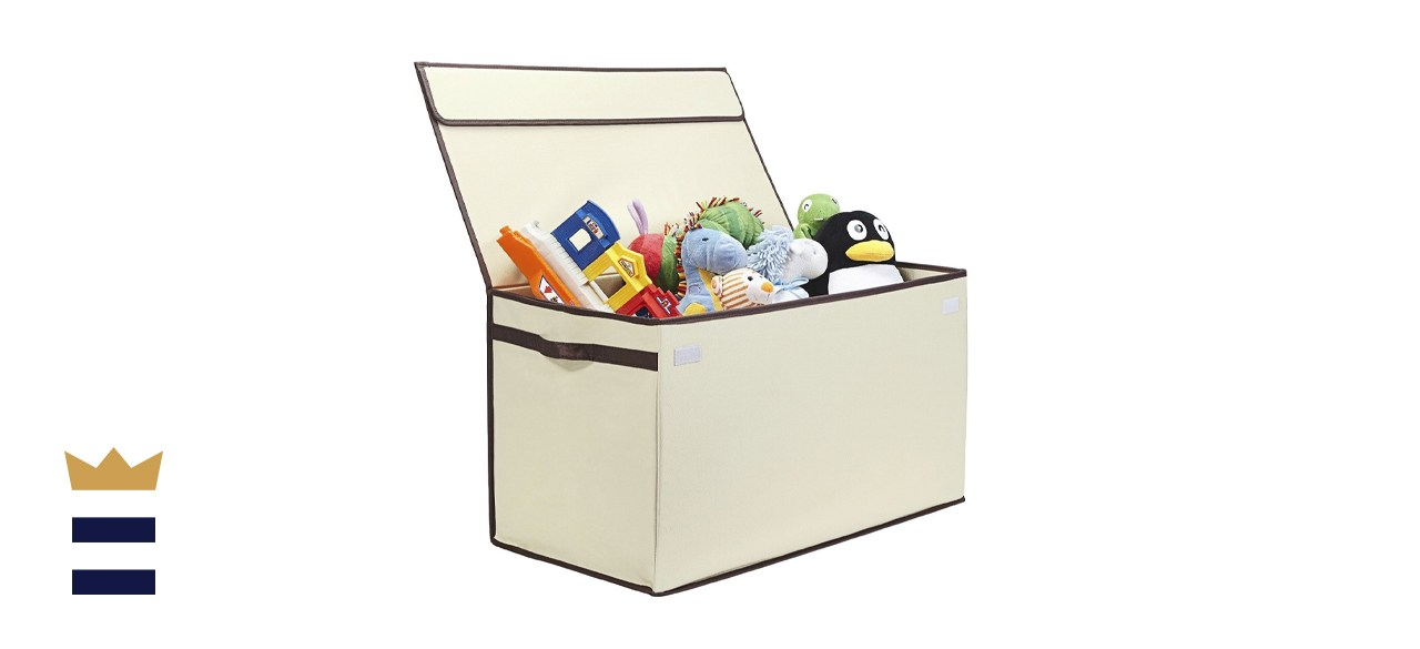 Great Useful Stuff Collapsible Toy Chest with Flip-Top Lid