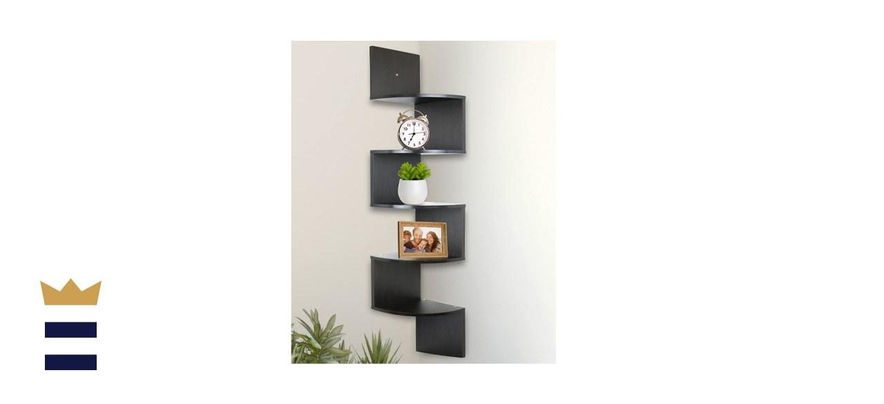 Greenco 5-Tier Wall-Mount Corner Shelves