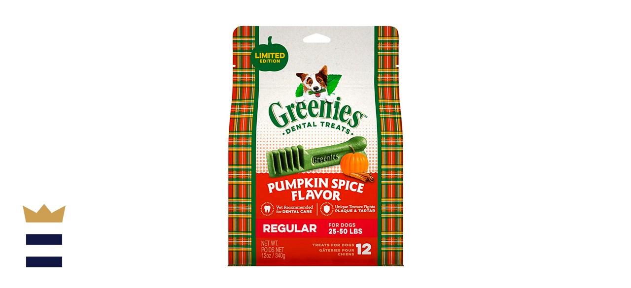 Greenies Regular Canine Pumpkin Spice Dental Chew Treats