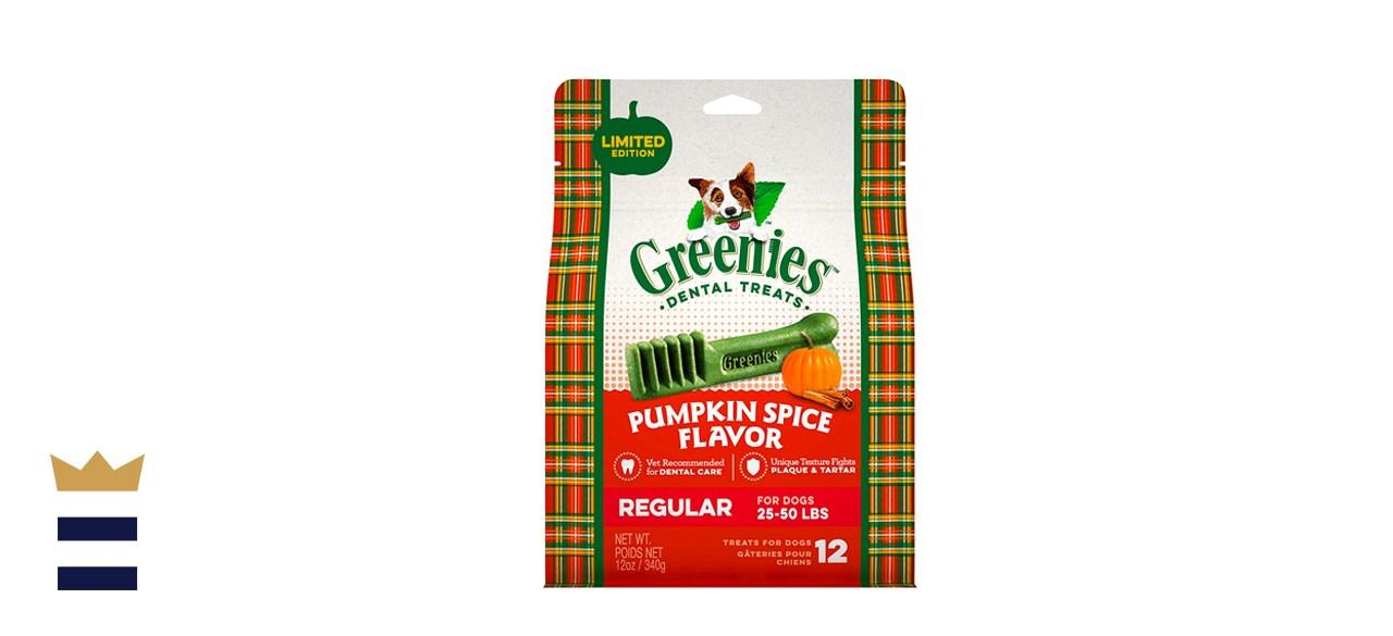 Greenies Teenie Canine Pumpkin Spice Dental Chew Treats