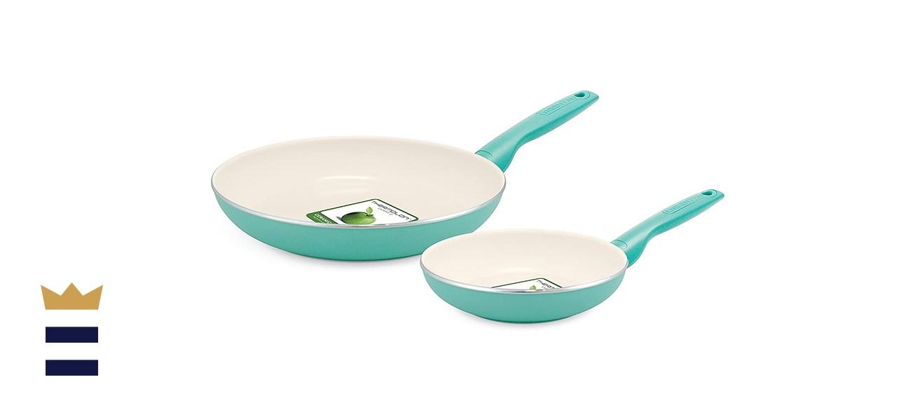 GreenPan Rio 8-inch & 10-inch Ceramic Fry Pans Set
