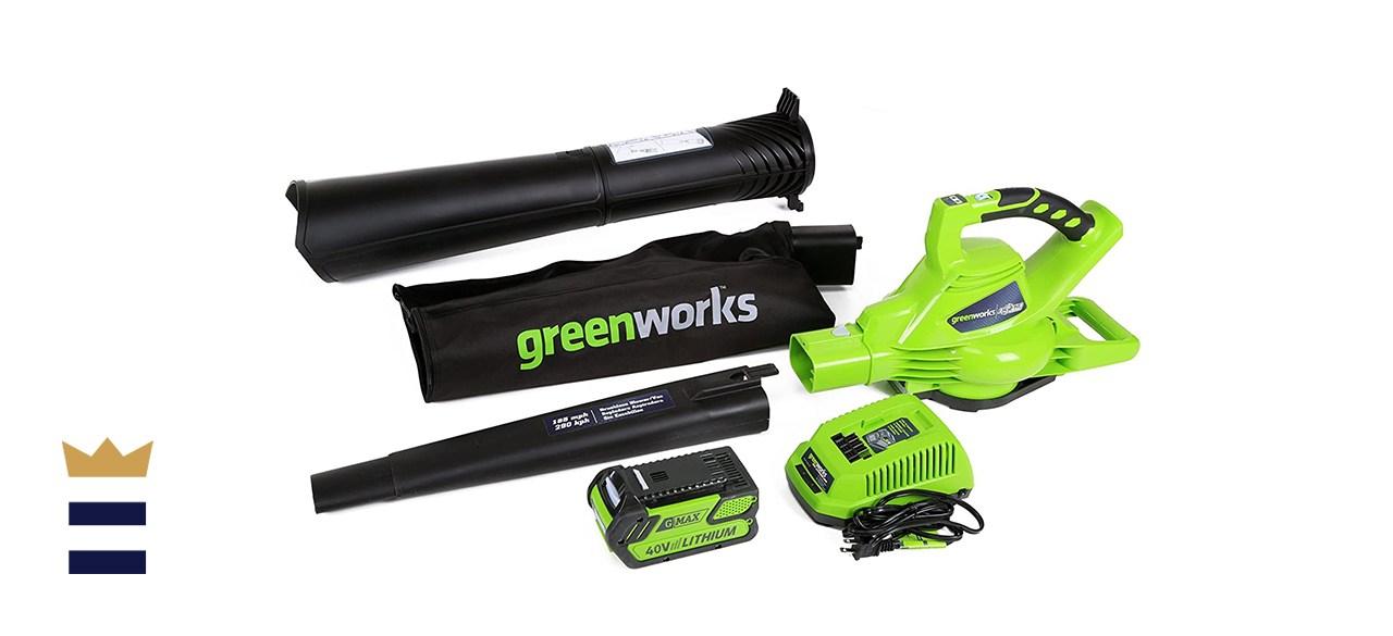 Greenworks 40V Variable Speed Cordless Leaf Blower/Vacuum