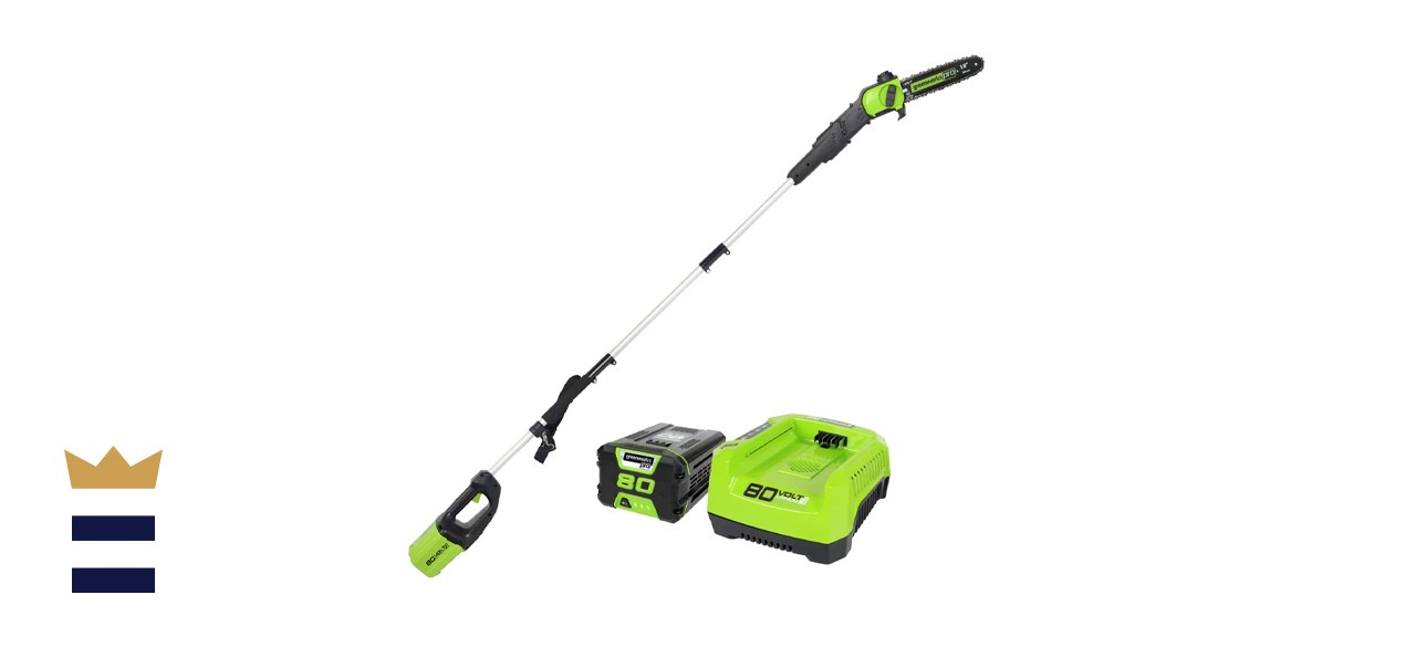 Greenworks Pro 80-volts 10-inch Cordless Pole Saw