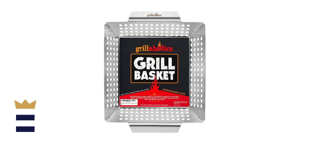 Grillaholics Heavy-Duty Grill Basket