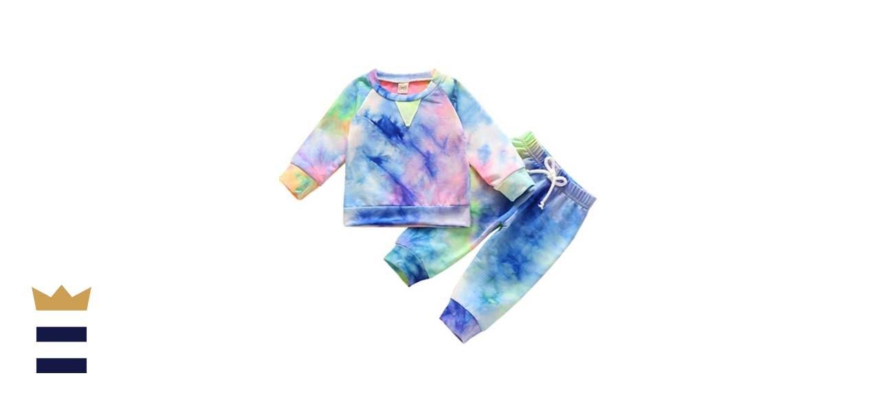 GRNSHTS Tie-Dye Long-Sleeve Top and Pants Pajama Set