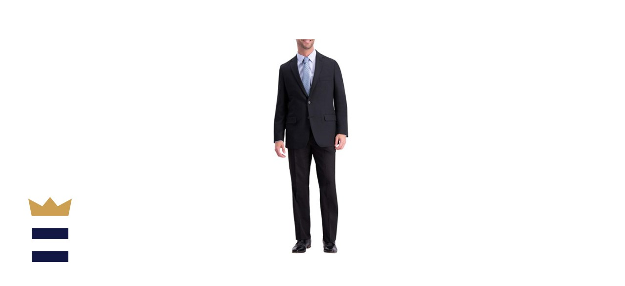 Haggar Men's Active Series Solid Gab Tailored Fit Blazer