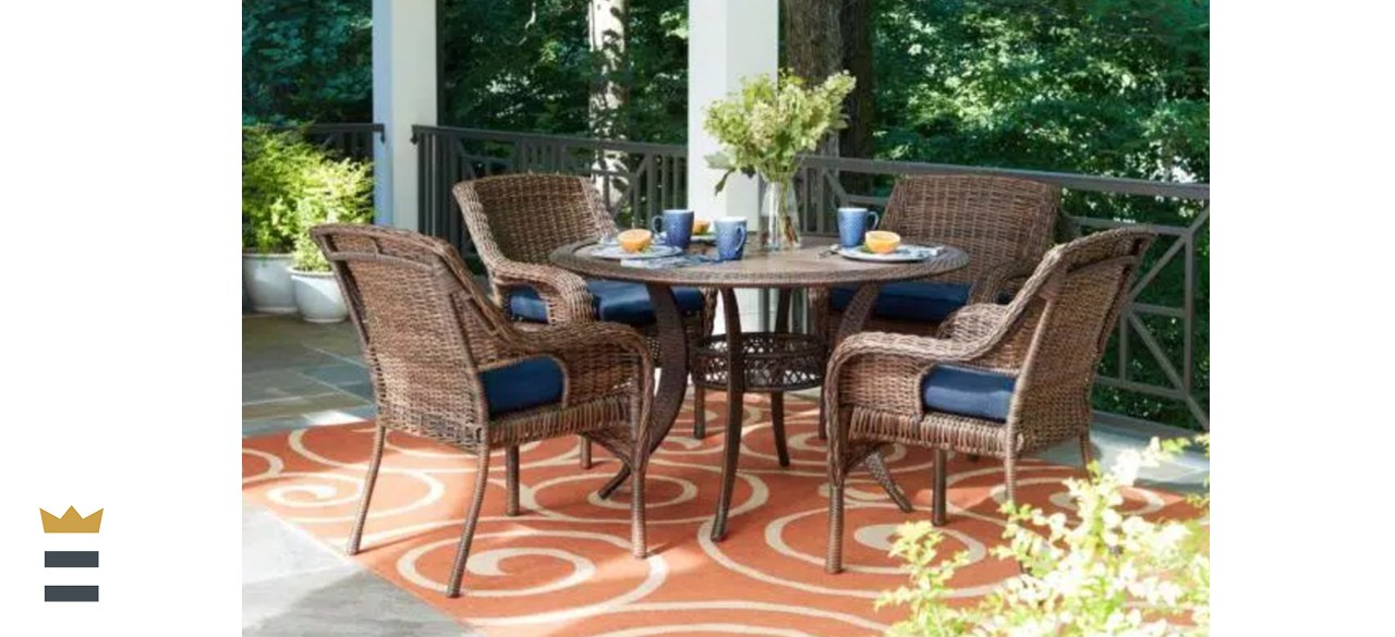 Hampton Bay Cambridge Wicker Patio Dining Set
