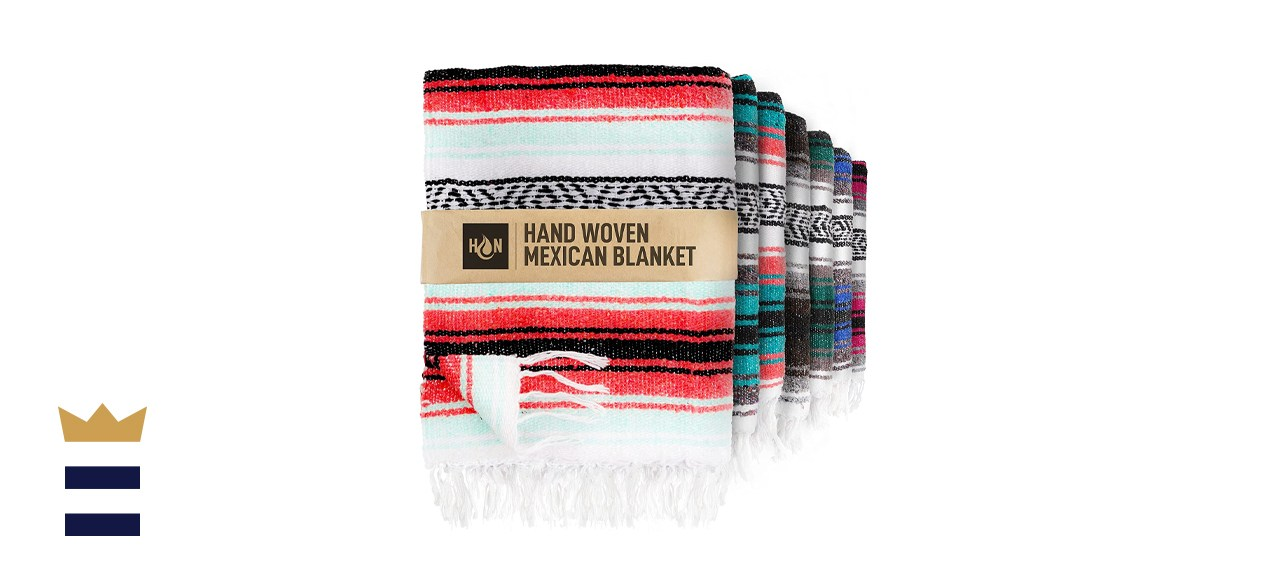 Handcrafted Large Mexican Yoga Blanket