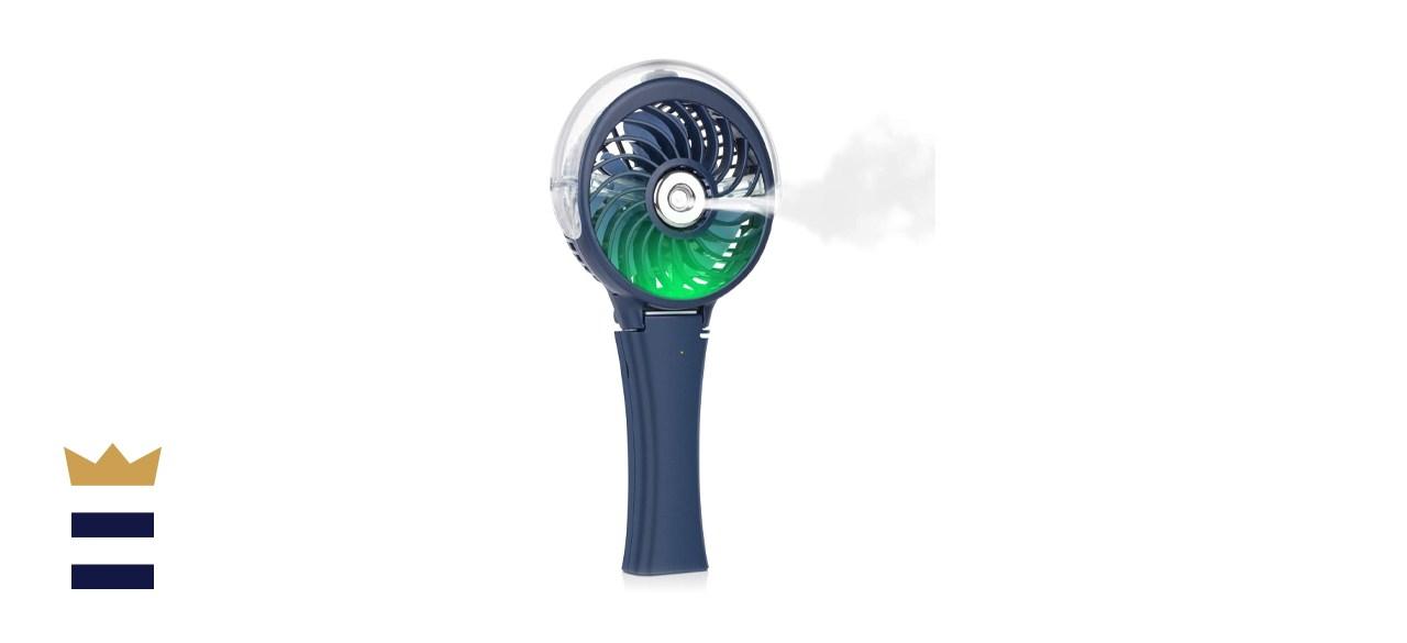 Handheld Misting Fan Portable Fan Facial Steamer-Rechargeable Battery Operated Fan