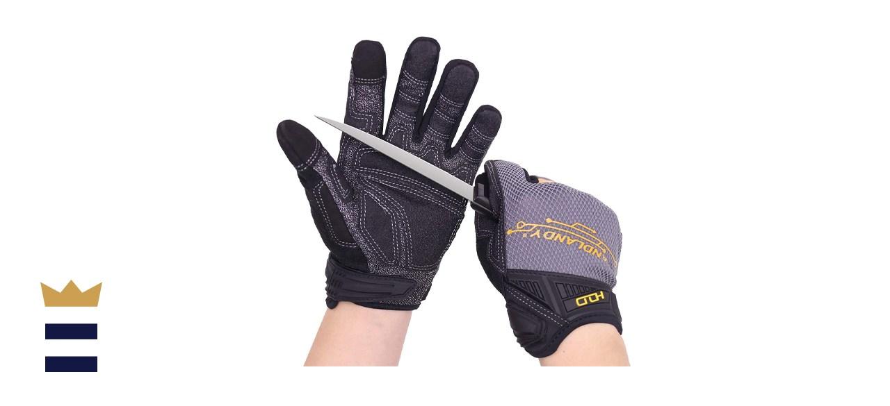 HANDLANDY Mens Work Gloves