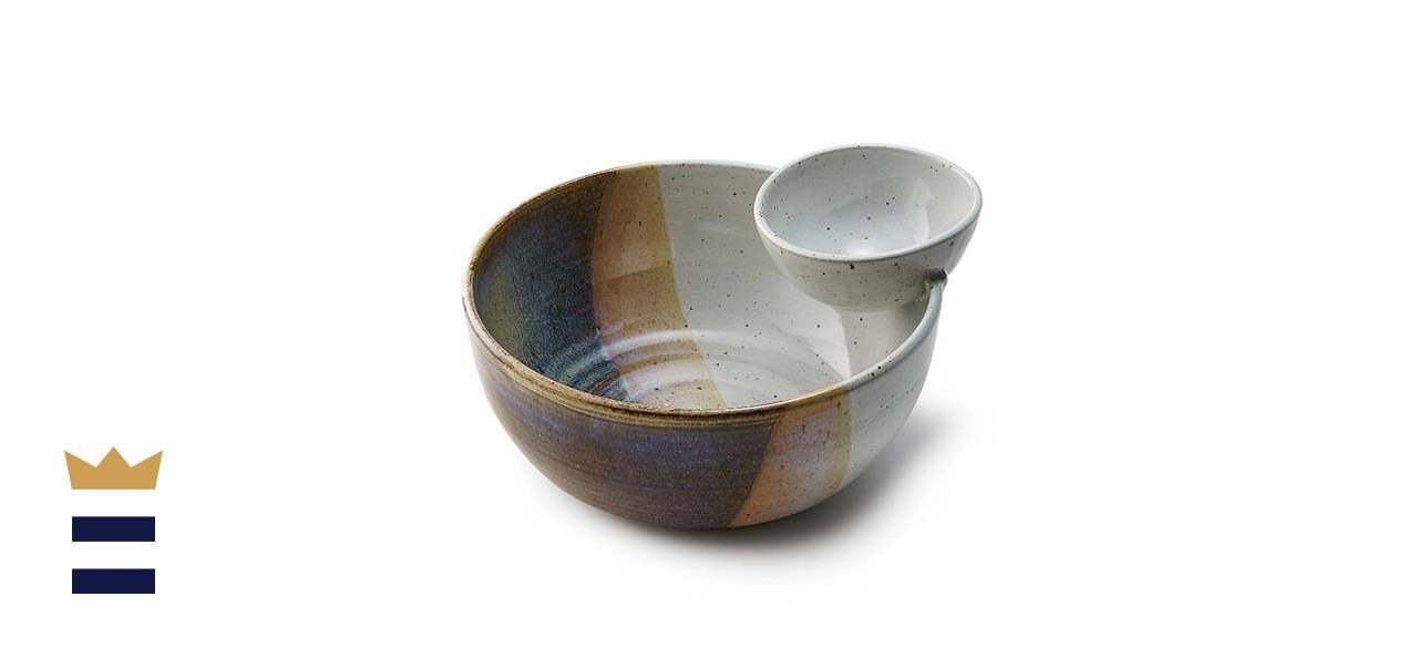 Handmade Chip and Dip Serving Bowl