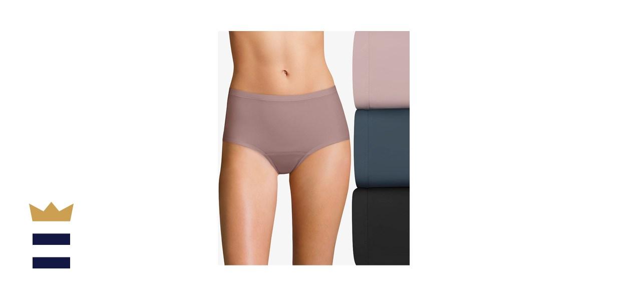 Hanes Fresh & Dry Leak Protection Brief Underwear