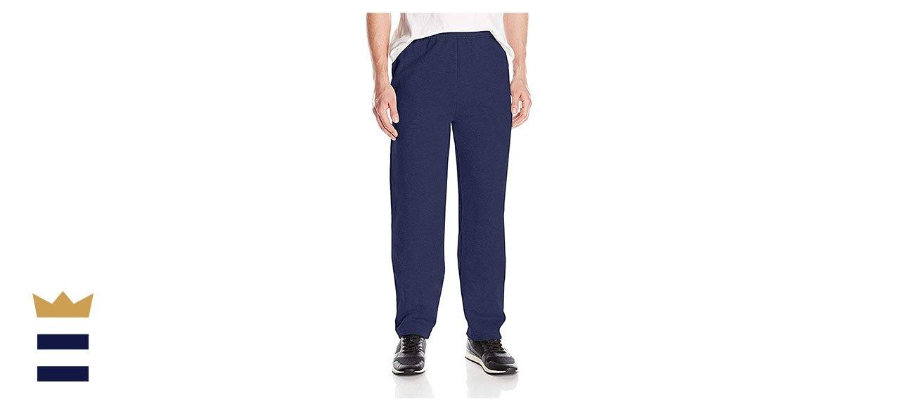 Hanes Men's EcoSmart Open-Leg Fleece Pant with Pockets