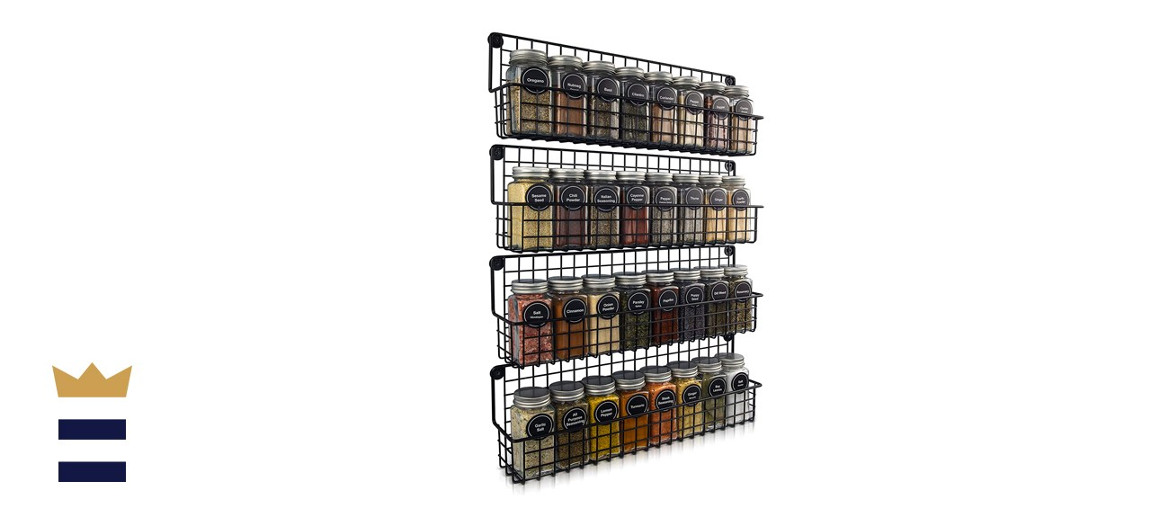 Mount a hanging spice rack
