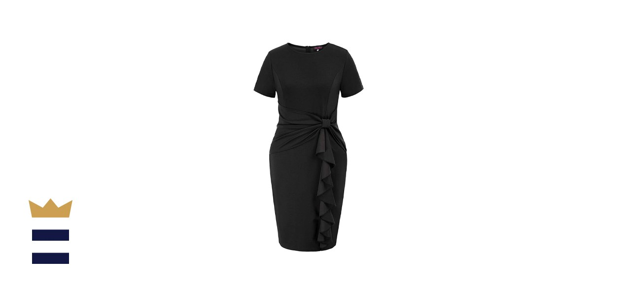 Hanna Nikole Women's Plus-Size Pencil Knee Dress