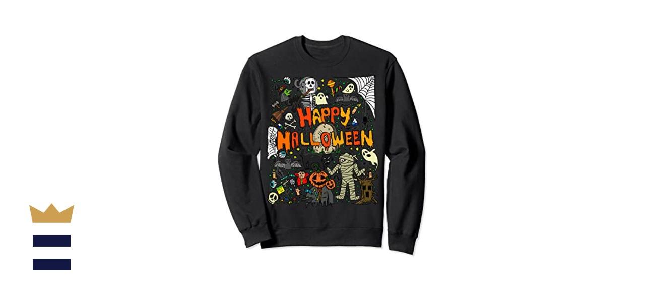 Happy Halloween Scary Retro Sweatshirt