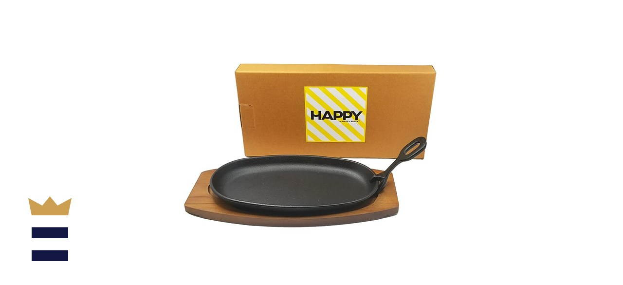 Happy Sales Cast Iron Steak Plate Set