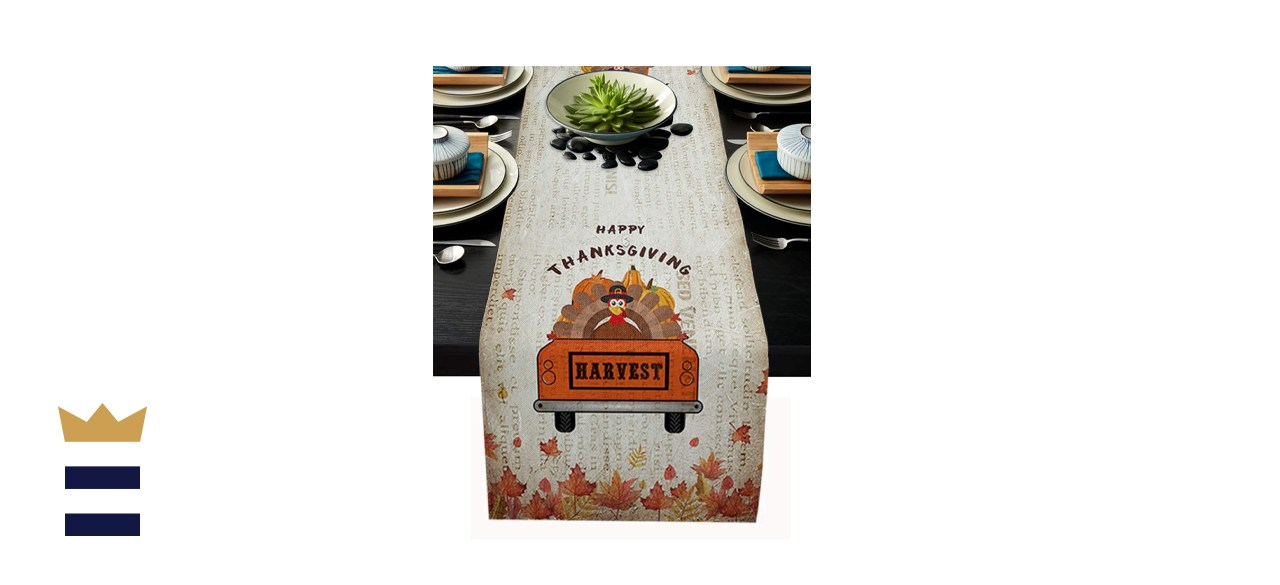 Happy Thanksgiving Table Runner for Farmhouse Holiday Parties