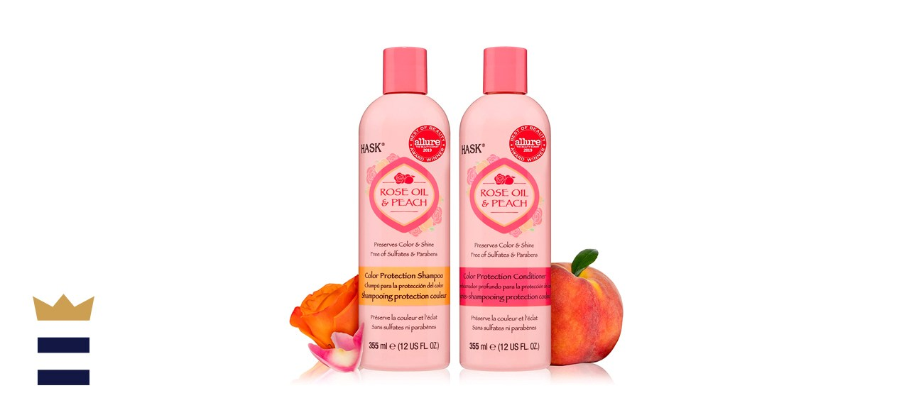 HASK Rose Oil & Peach Shampoo + Conditioner for Colored Hair