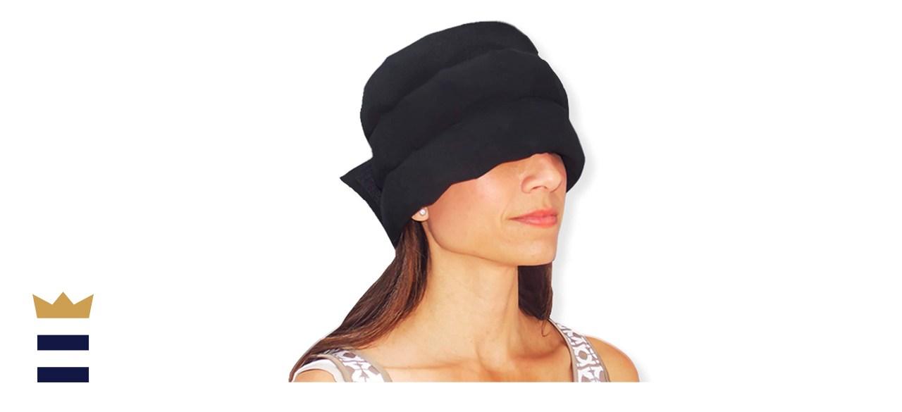 HEADACHE HAT Wearable Three Row Ice Pack and Eye Mask
